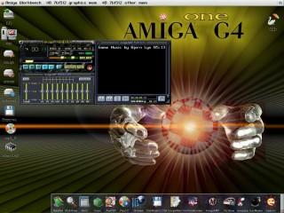 AmigaAmp 2 pod kontrolą systemu AmigaOS 4.0