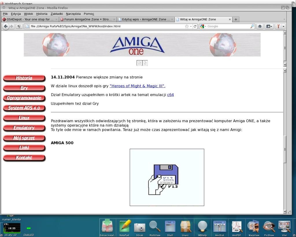AmigaOne Zone - początki