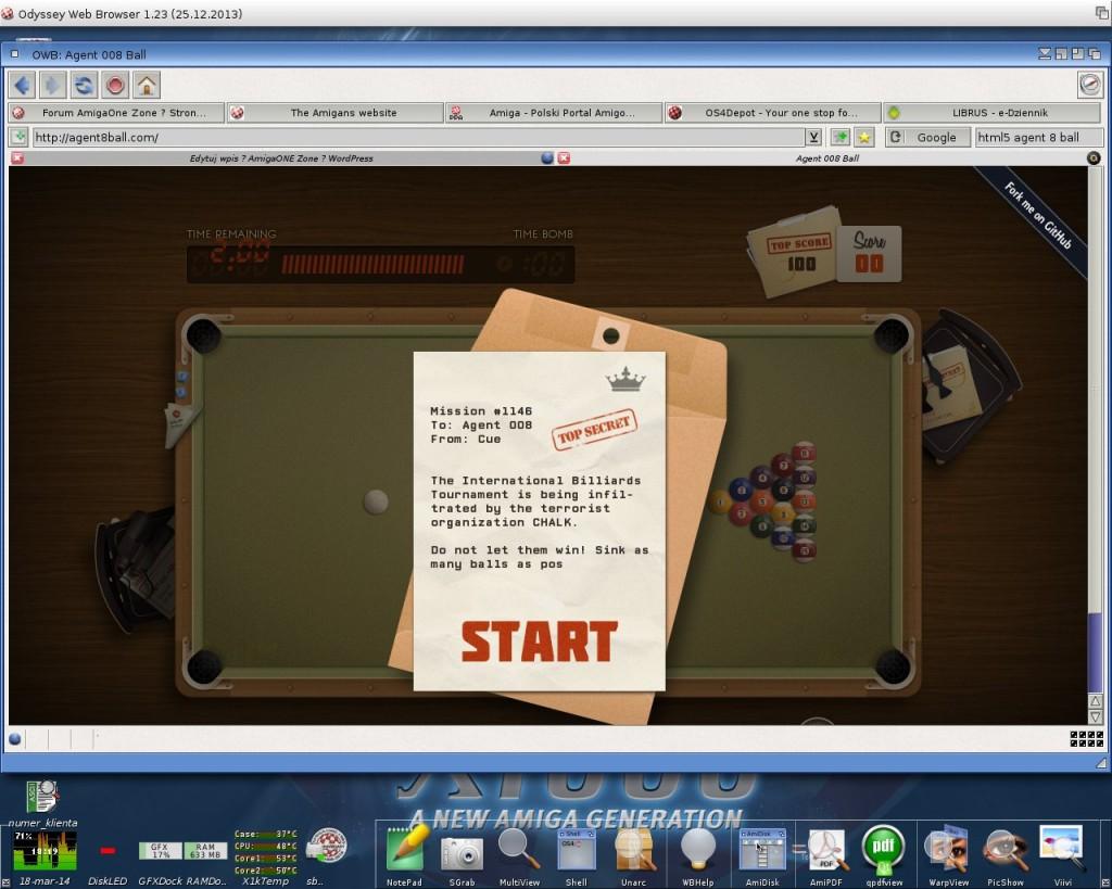 Agent 8Ball - gra w HTML5