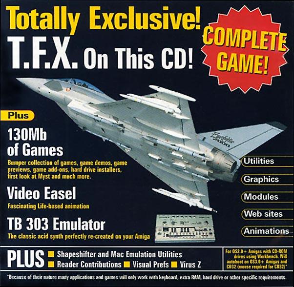 TFX na okładce cover CD