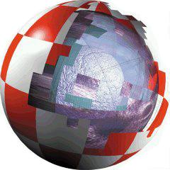 Zdeformowane logo boing z czasów początkowej działalności Amiga Inc.