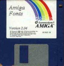 Bardziej klasyczna tęcza na dyskietce systemowej AmigaOS 2.04.