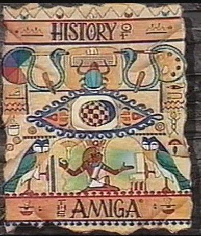 Okładka filmu History of The Amiga (1992) - autorzy jednoznacznie wskazują co jest symbolem tego komputera.