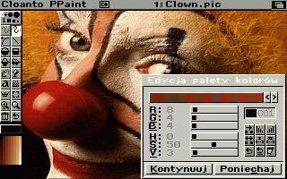 Clown - najbardziej znana grafika standardowo dołączana do programu