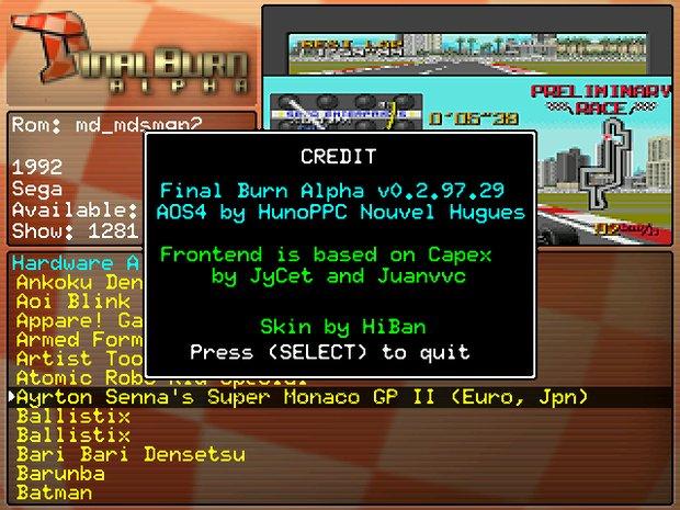 Final Burn - credits