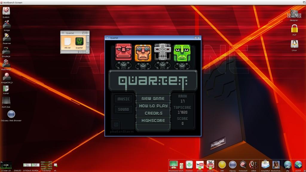 Quartet - menu