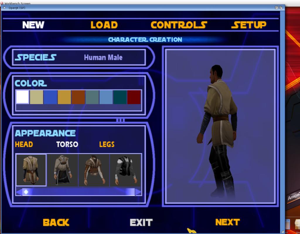 Jedi Academy - personalizacja postaci