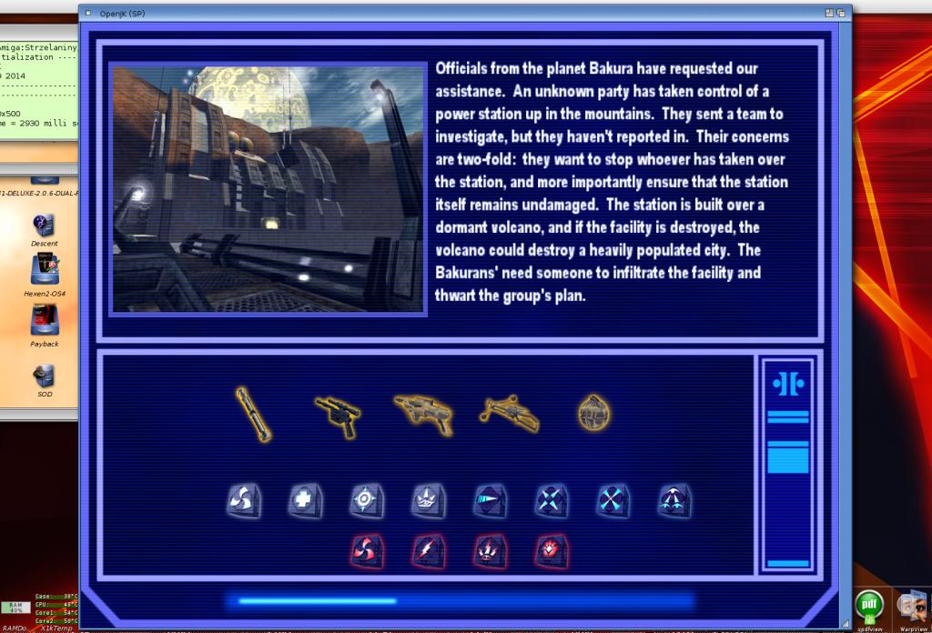 Wczytywanie misji - krótki opis, dostępna broń i moce