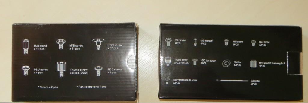 Pudełka na akcesoria po lewej R3 po prawej R4