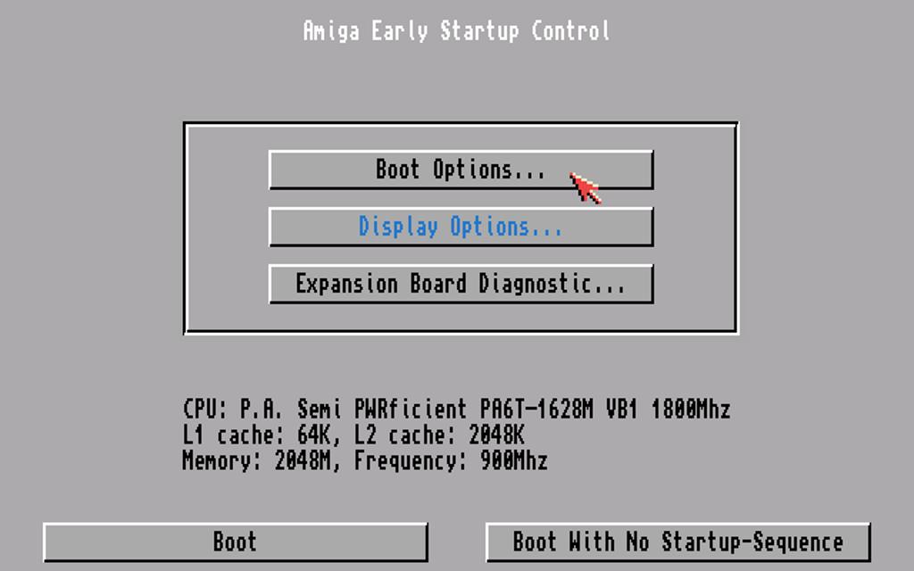 Kickstart - elementarna część systemu Amigi od 30 lat. W Morphos tego nie uświadczysz (Workbencha zresztą też).