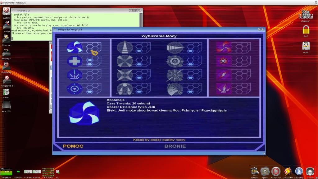 Film z gry Star Wars Jedi Academy w rozdzielczości 1280x720. Spacerek dla A1 X1000, zabójca procesora w macach G4