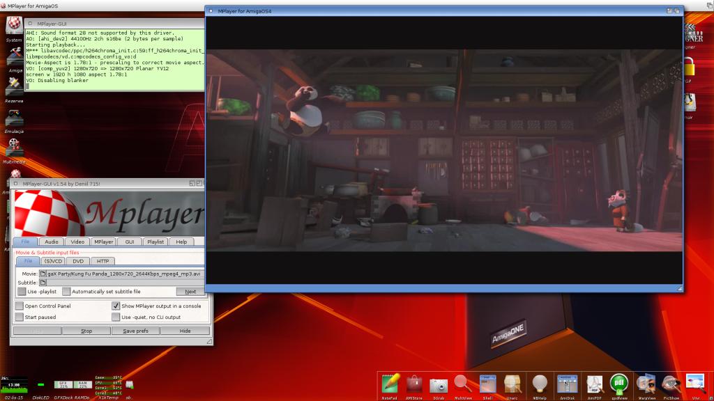 Mplayer w akcji - film 720p