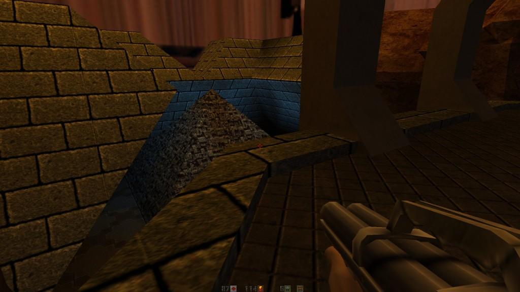 Quake 2HD - poziom z piramidą