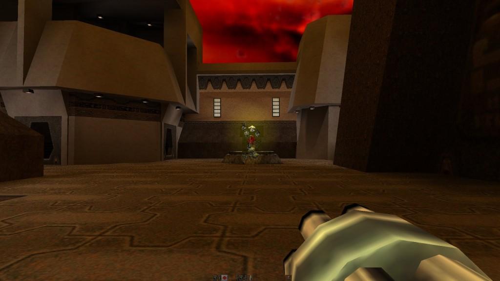 Quake 2HD - przeciwnik rozczłonkowany