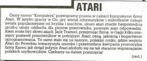 Atari dbało o reklamę i marketing już w 1986 roku