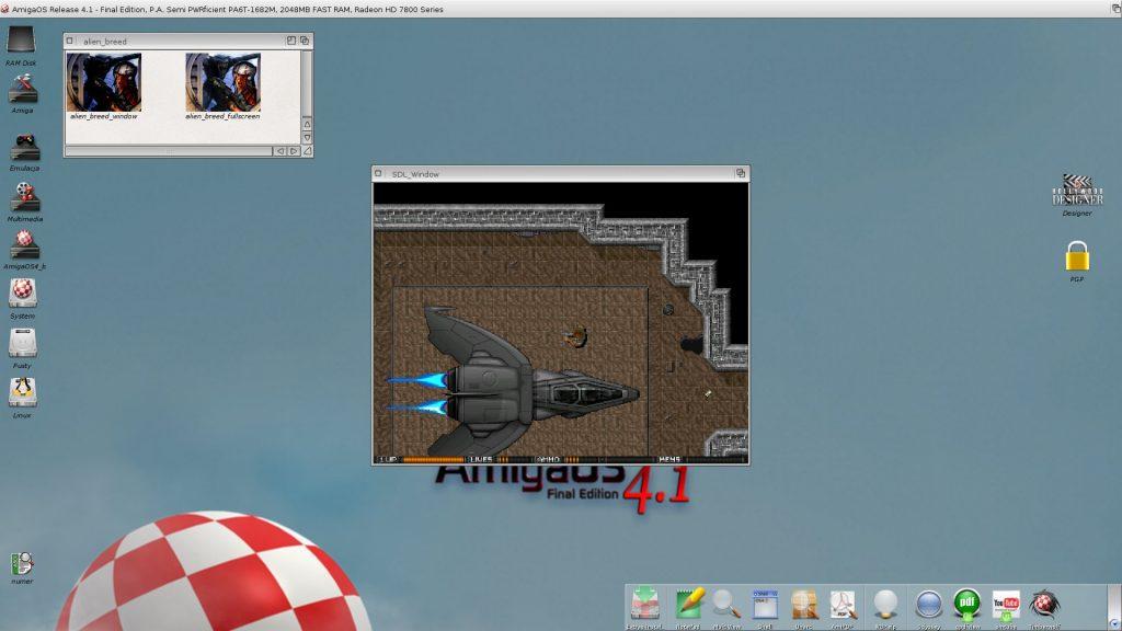 Alien Breed dla AmigaOS 4 w akcji